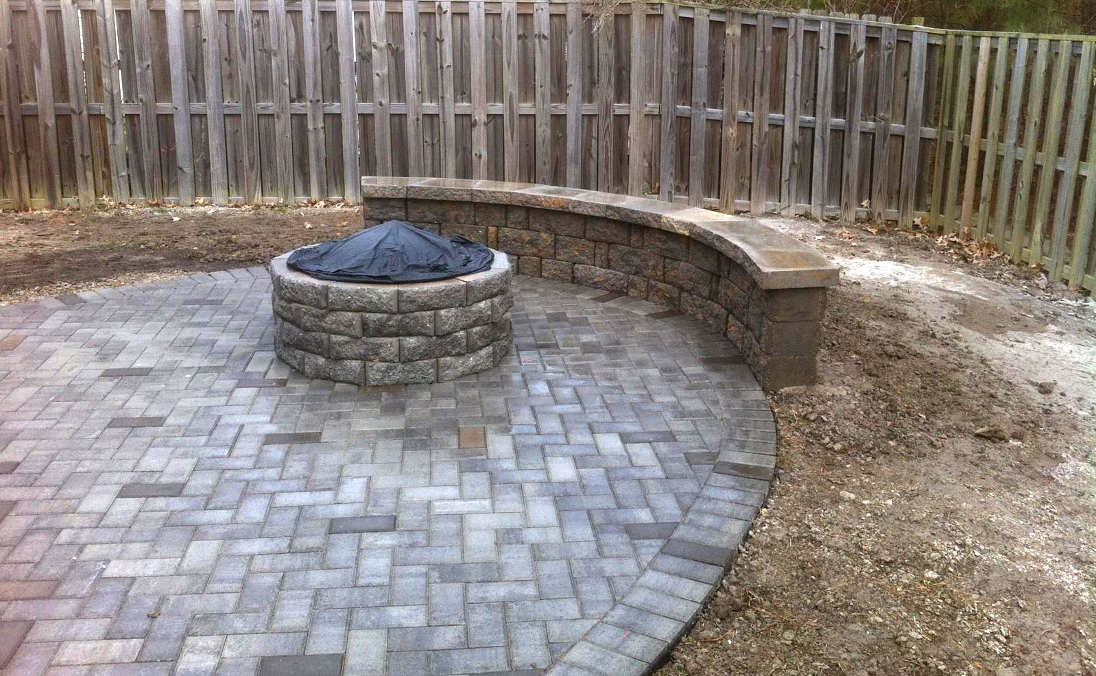Fire Pit by TSP Landscaping of Yorktown VA