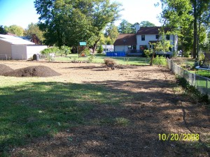 Mulch and grading by TSP Lawns & Landscaping of Yorktown VA