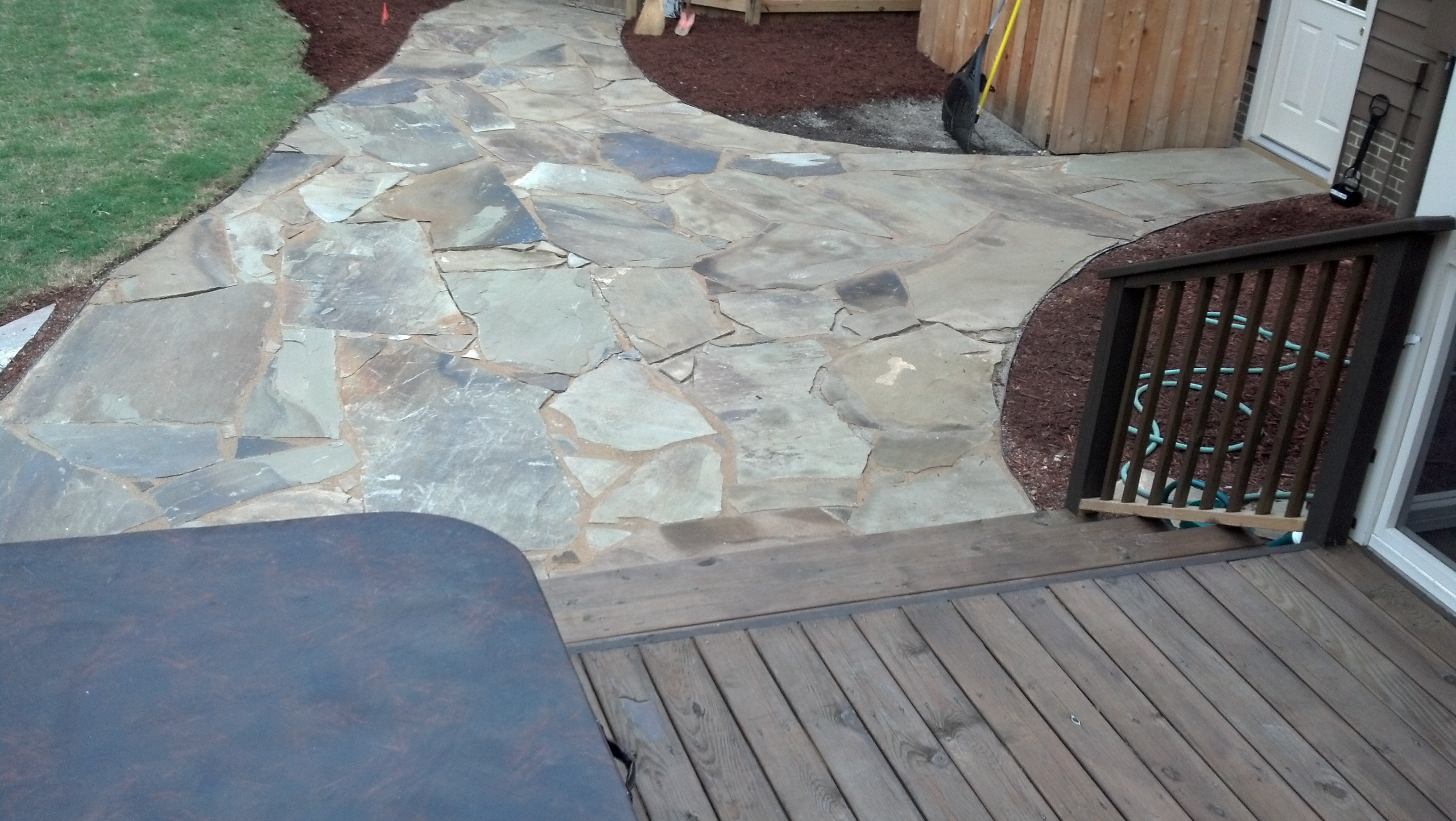 Stone Walkways and Patios by TSP Landscaping Yorktown Virginia