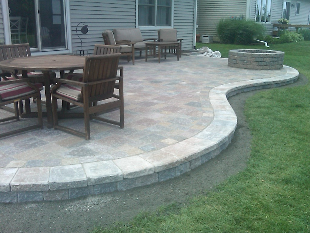 Raised Paver Patios Patio Scrolling Tsp Lawns Landscapes