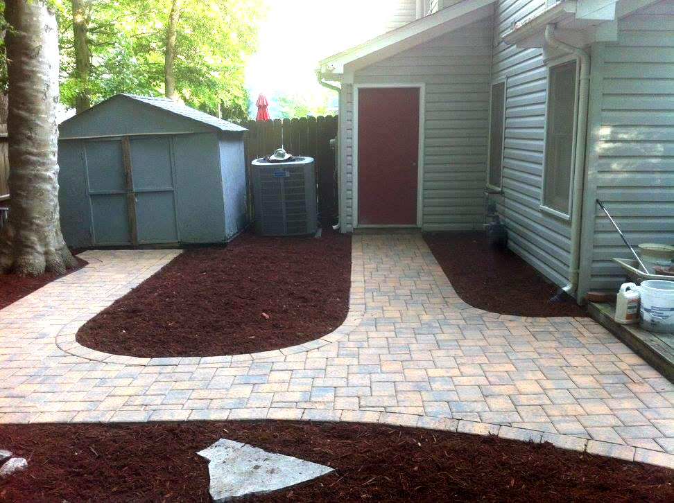 Custom Walkway by TSP Landscaping - Grading - Patio of Yorktown VA