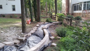Paver Retaining Walls by TSP Lawns & Landscaping Yorktown VA