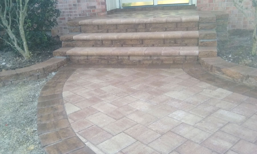 Paver walkways and stairways by TSP Yorktown Virginia