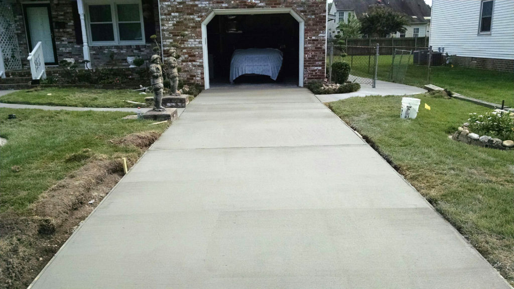 Concrete Driveway installed by TSP Lawns & Landscaping