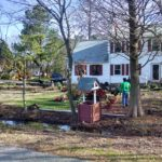 Fall leaf removal by TSP Lawns & Landscaping Yorktown Virginia