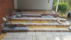 TSP Laws & Landscaping - Stone & Paver Steps