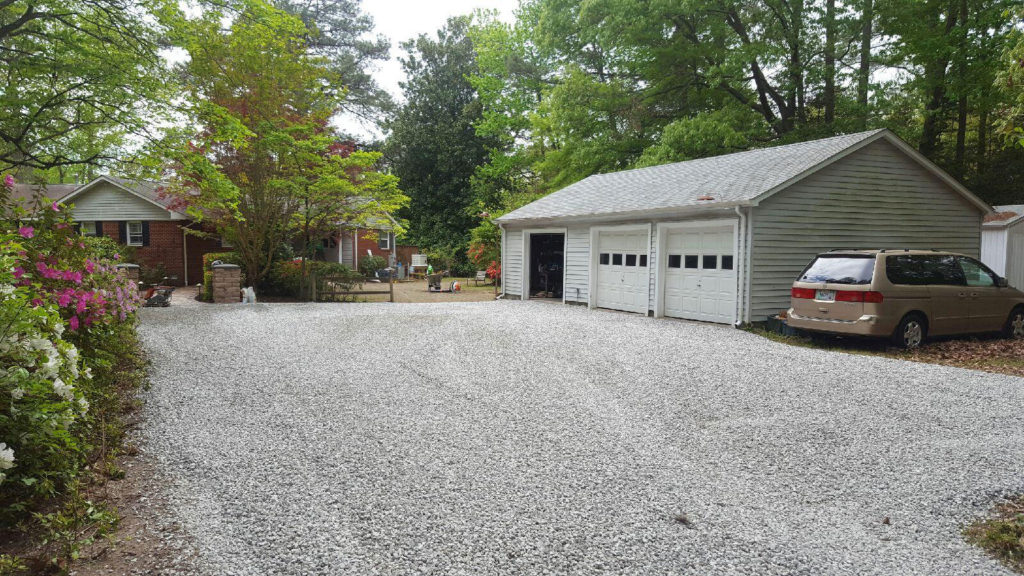 Grading & Stone drive-ways by TSP Lawns & Landscaping, Inc.