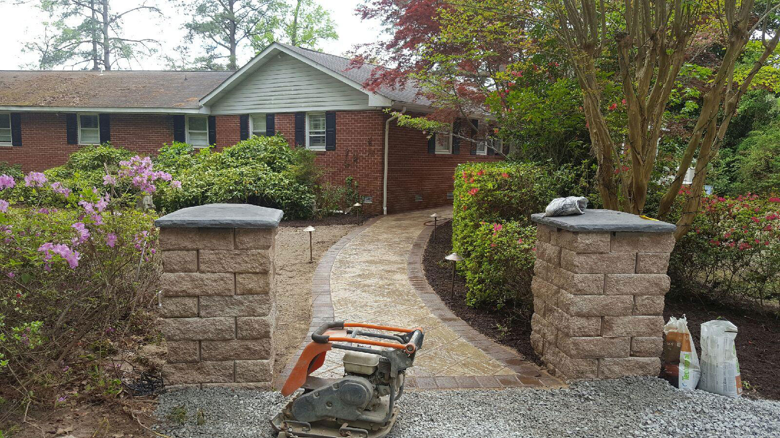 Custom Columns & Landscape Walkway by TSP Lawns & Landscaping, Inc.