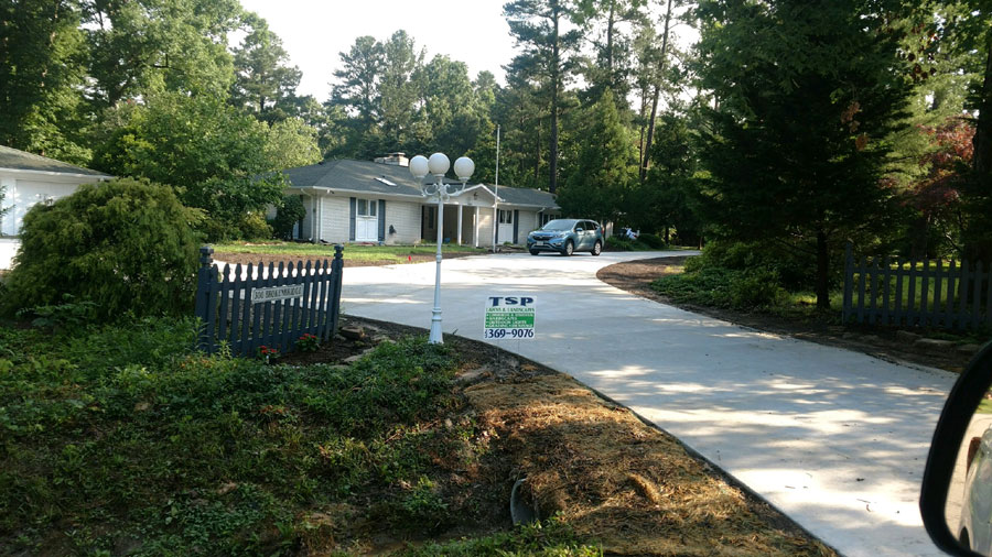 Custom Driveway by TSP Lawns & Landscaping of Yorktown VA