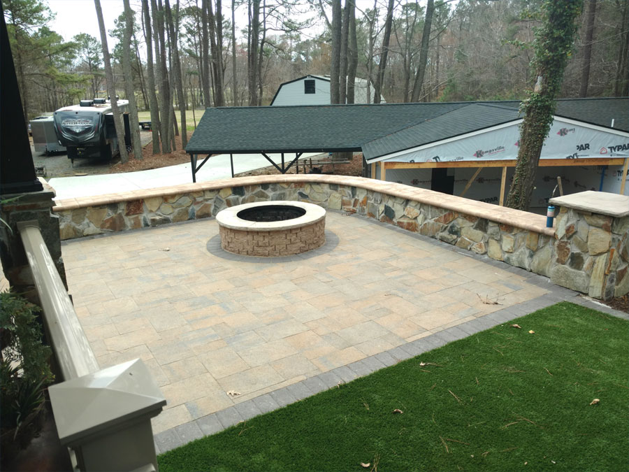 Patio & Fire Pit by TSP Lawns & Landscaping - Yorktown VA
