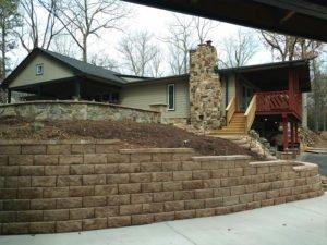 Custom Landscape patio designs and retaining walls by TSP Lawns & Landscaping - Yorktown VA