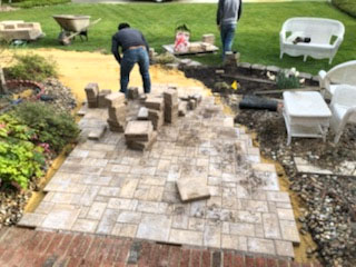 Custom Landscape Walkways by TSP Lawns & Landscaping Yorktown VA
