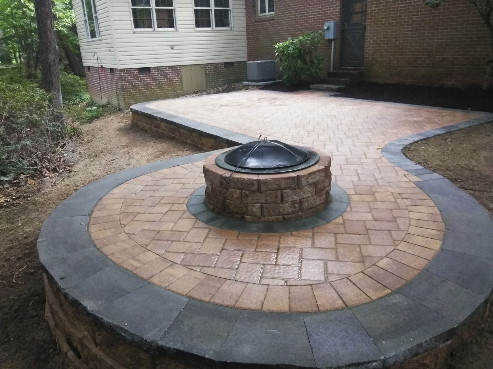 Fire Pits & Landscape Patios by TSP Lawns & Landscaping Yorktown VA