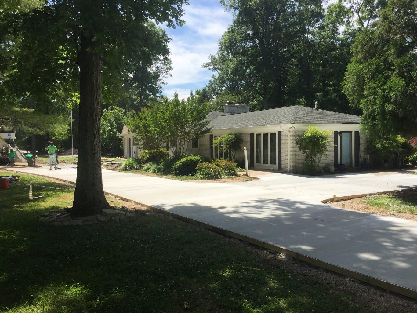 Concrete Driveways by TSP Lawns & Landscapes - Yorktown VA