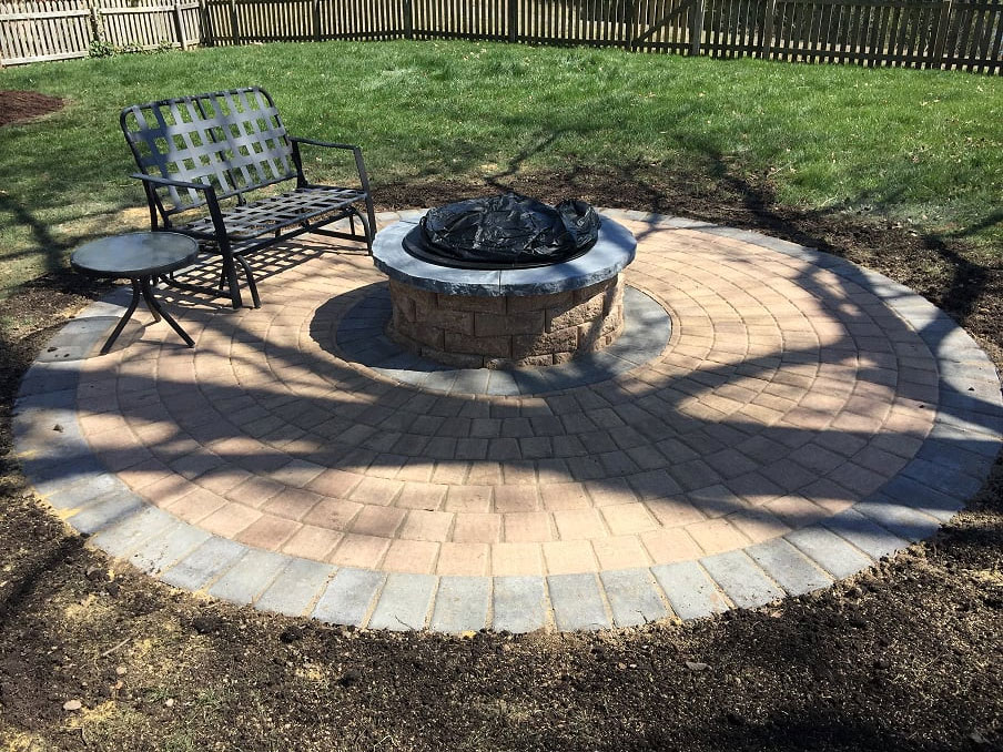 Fire Pit by TSP Lawns & Landscapes of Yorktown VA
