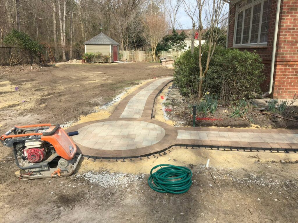 Paver Walkway by TSP Lawns & Landscapes of Yorktown VA