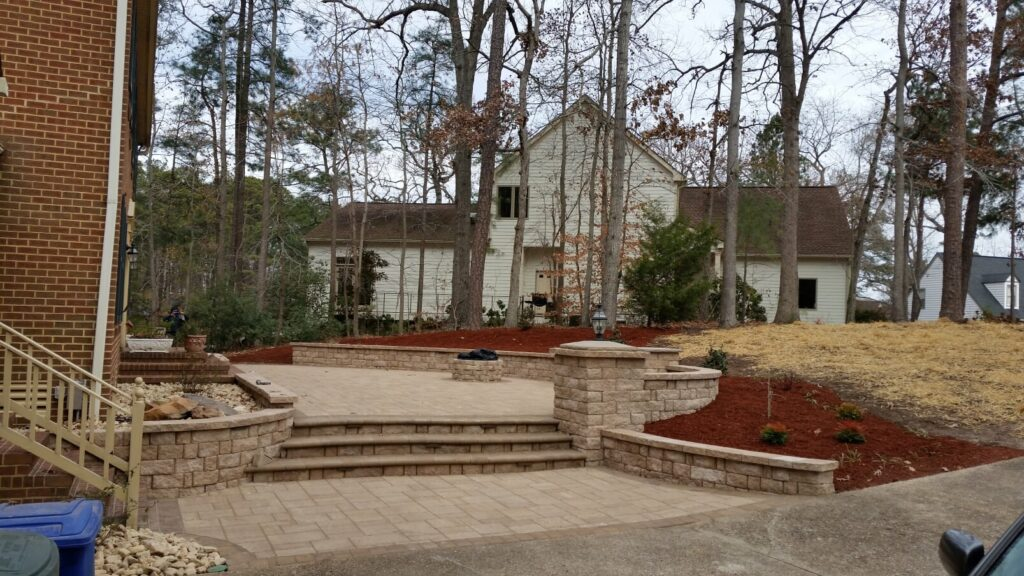Front Porch Patio by TSP Lawns & Landscapes of Yorktown VA